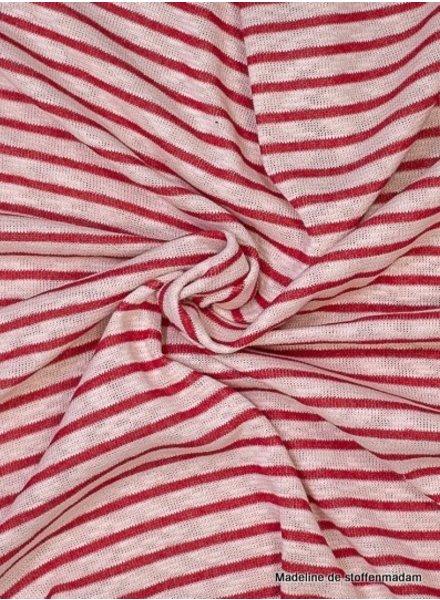 rood gestreept - gebreide katoenmix
