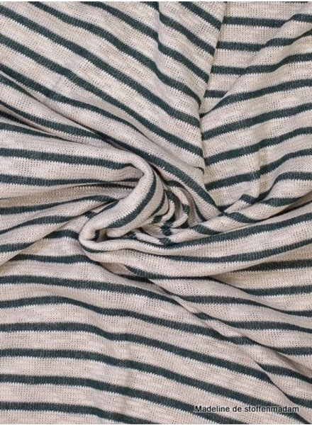 green stripes -  textured knit