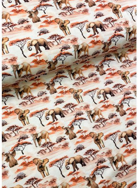 elephant walk sunset - tricot 7oz