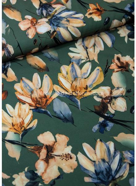 khaki magnolia - soepelvallende stof - licht rekbaar