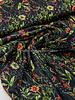 Swafing zwart bloemen - soft touch viscose