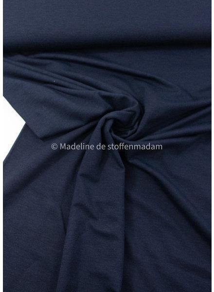 marineblauw - bamboe tricot