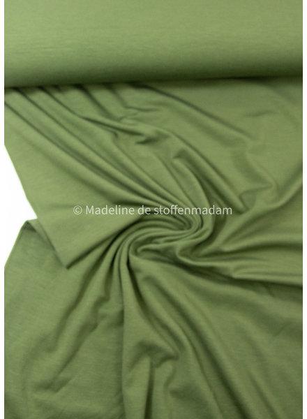 khaki - bamboe tricot