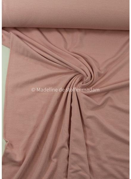 oud roze- heel soepelvallende bamboe tricot