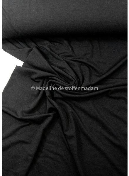 M zwart -  bamboe tricot