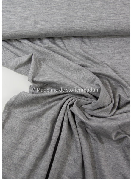 grijs melee - heel soepelvallende bamboe tricot