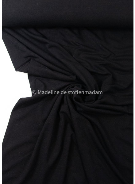 black- supple bamboo jersey