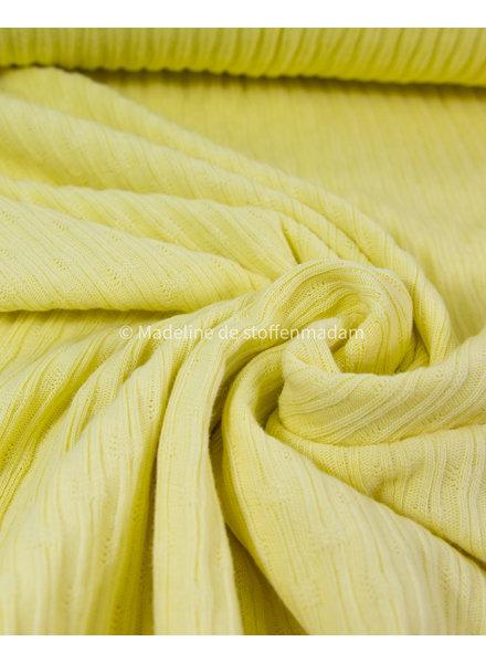 mooie fijne structuur tricot met ribbeltje - chartreuze geel
