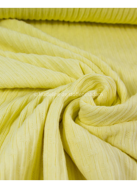 ribbed jacquard jersey - chartreuze yellow
