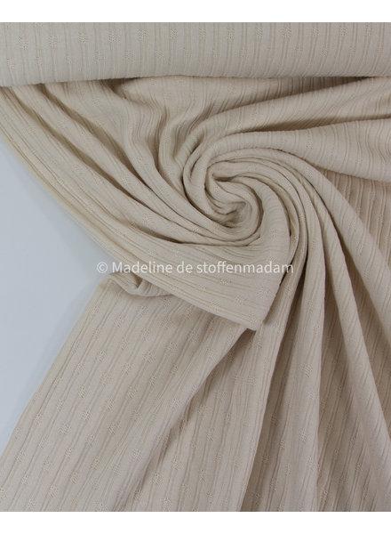 mooie fijne structuur tricot met ribbeltje - creme