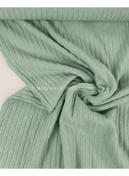mooie fijne structuur tricot met ribbeltje - mint