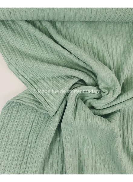 ribbed jacquard jersey - mint