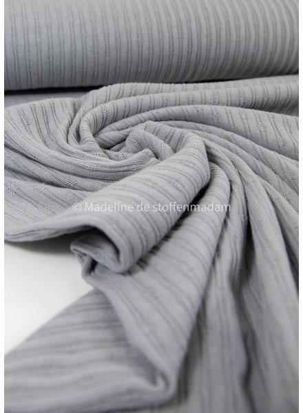 mooie fijne structuur tricot met ribbeltje - grijs