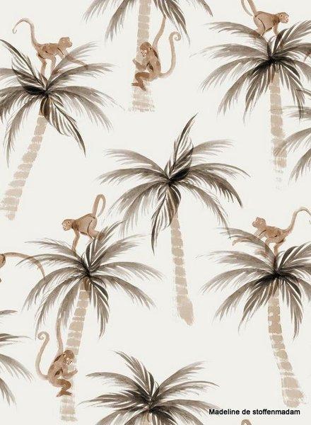 Family Fabrics Palms & Monkeys - tricot