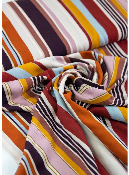 retro stripes - viscose