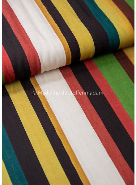 La Maison Victor colored vertical stripes - viscose