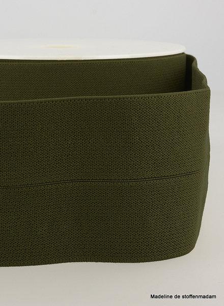 kaki - taille elastiek voorgevouwen 30mm