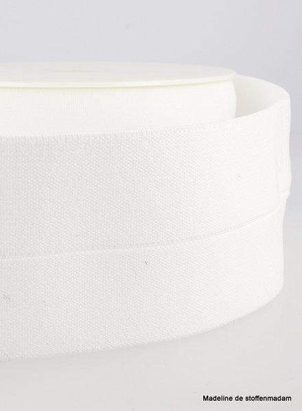 white - elastic waist band pre-folded 30 mm