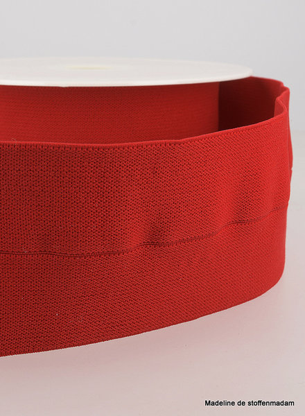 red -  elastic waist band pre-folded 30 mm