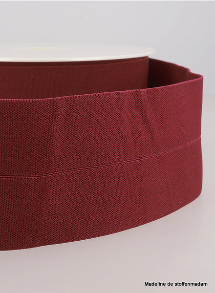 bordeaux - elastic waist band pre-folded 30 mm