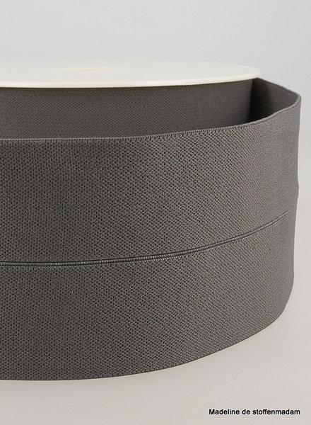 donkergrijs - taille elastiek voorgevouwen 30mm