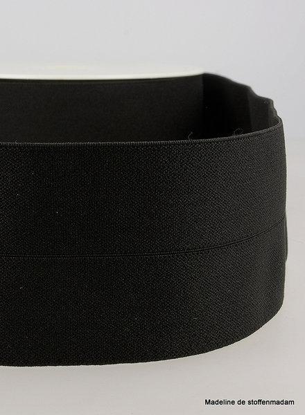 zwart - taille elastiek voorgevouwen 30mm