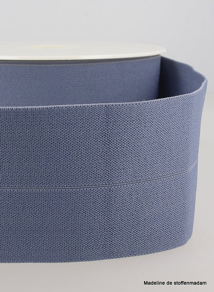 denim blue - elastic waist band pre-folded 30 mm