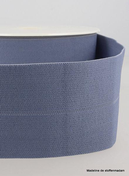 denimblauw - taille elastiek voorgevouwen 30mm