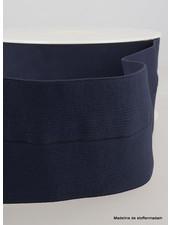 marineblauw - taille elastiek voorgevouwen 30mm