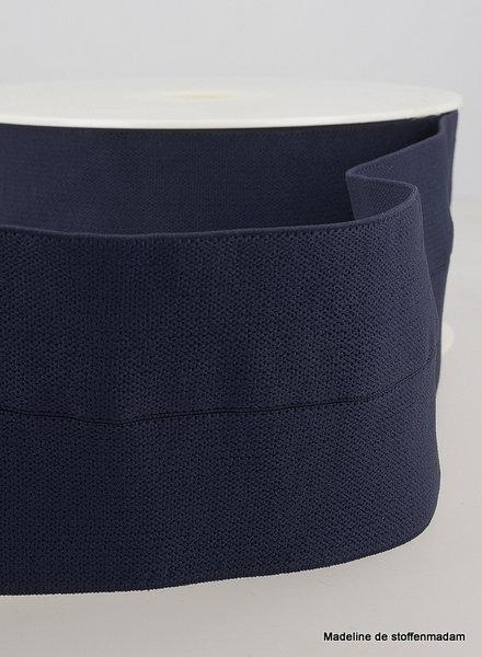 navy blue - elastic waist band pre-folded 30 mm
