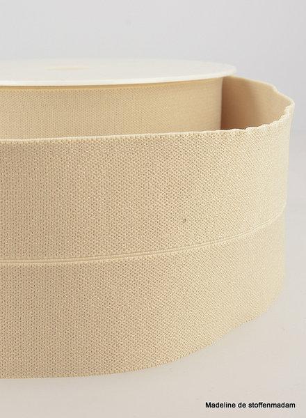 beige - elastic waist band pre-folded 30 mm