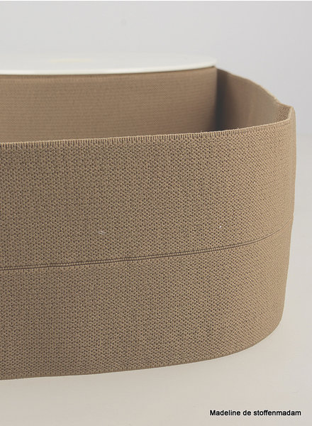 coffee - elastic waist band pre-folded 30 mm