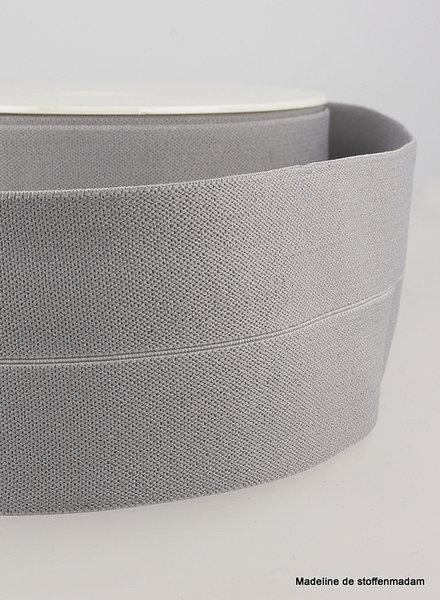 grey -elastic waist band pre-folded 30 mm