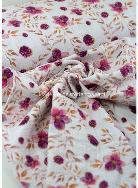 lila flowers - nature - tetra/double gauze