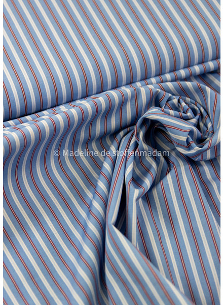 red blue stripes - cotton