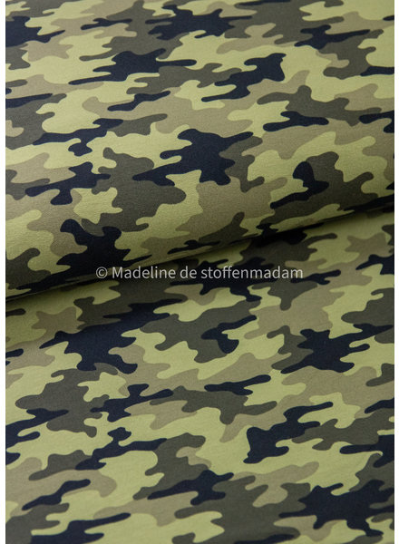 camouflage green - french terry