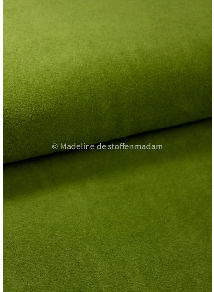 M green stretch sponge or terry