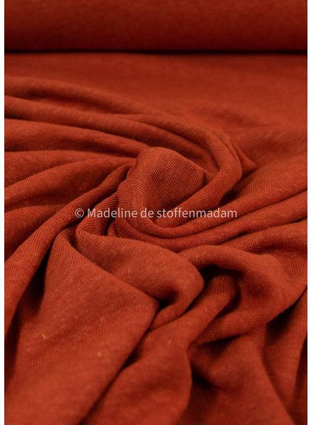 M roest - rekbare gebreide linnen viscose mix - linnen tricot