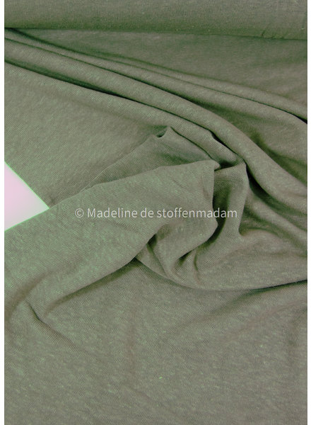 khaki - knitted linen viscose