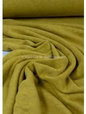 oker - rekbare gebreide linnen viscose mix - linnen tricot