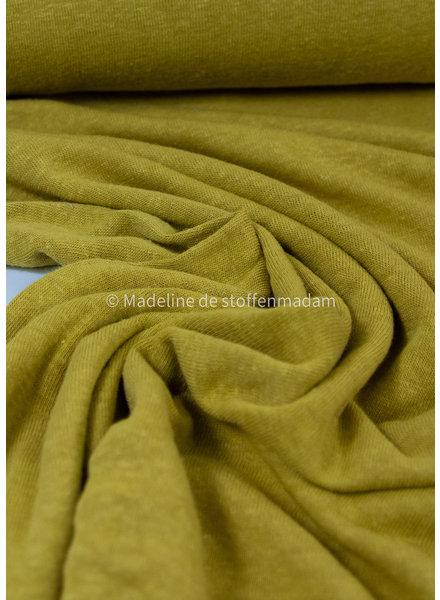 ochre - knitted linen viscose