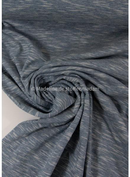petrol - beautiful melee jersey - 100% cotton