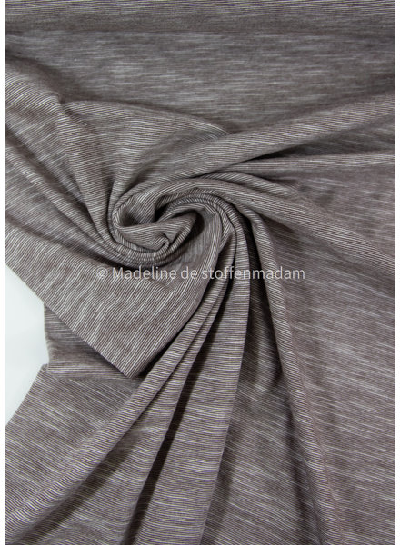 taupe - beautiful melee jersey - 100% cotton
