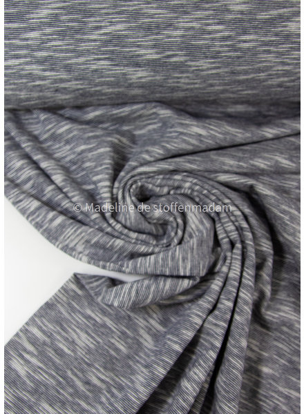 marine blue - beautiful melee jersey - 100% cotton
