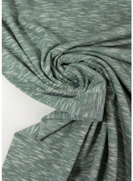 M groen - mooi gemeleerde tricot - 100% organic katoen