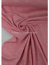 zacht roze - mooi gemeleerde tricot - 100% organic katoen