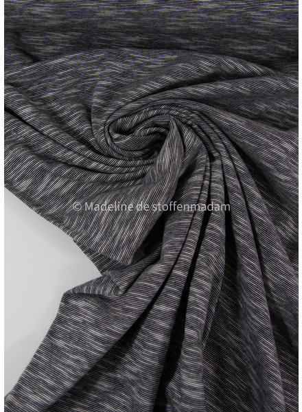 M zwart - mooi gemeleerde tricot - 100% organic katoen