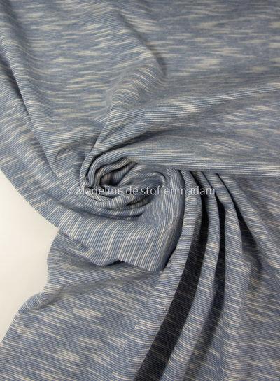 blauw - mooi gemeleerde tricot - 100% organic katoen