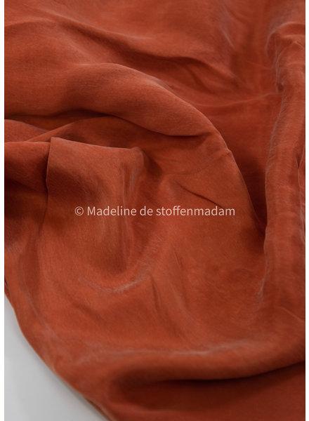 Ipeker - Vegan Textile sunset oranje- 100% vegan cupro