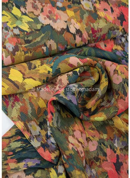 Fibremood pixel flowers - viscose crepe - Marion